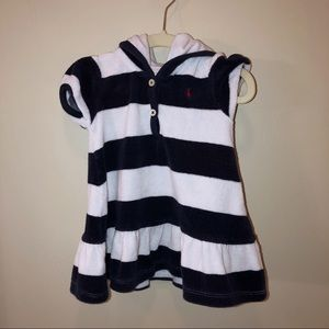 Ralph Lauren Striped Hooded Terry Dress